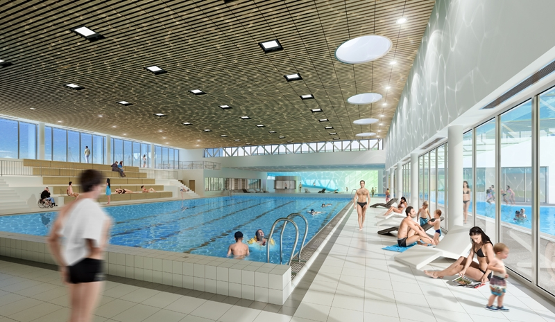 Broissand architectes for Piscine oullins