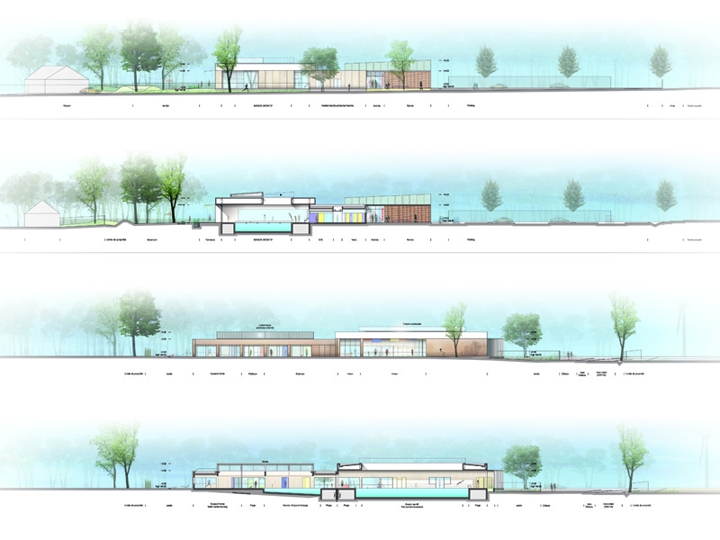 Broissand architectes centre aquatique de voves for Piscine 75008